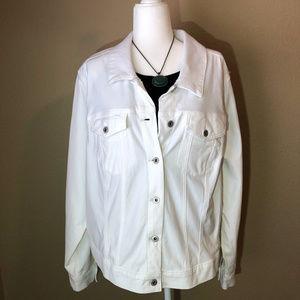 Jessica Simpson White Denim Jacket Size 3x